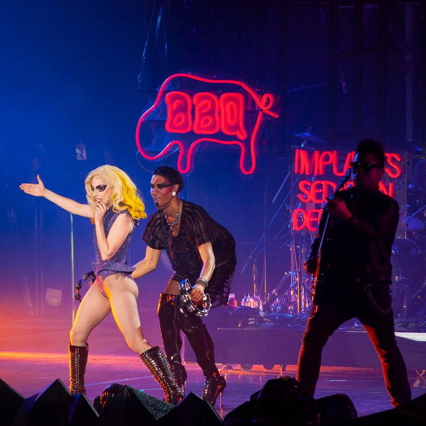 Lady GaGa in Cardiff